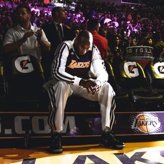 Kobe Bench Pre Game